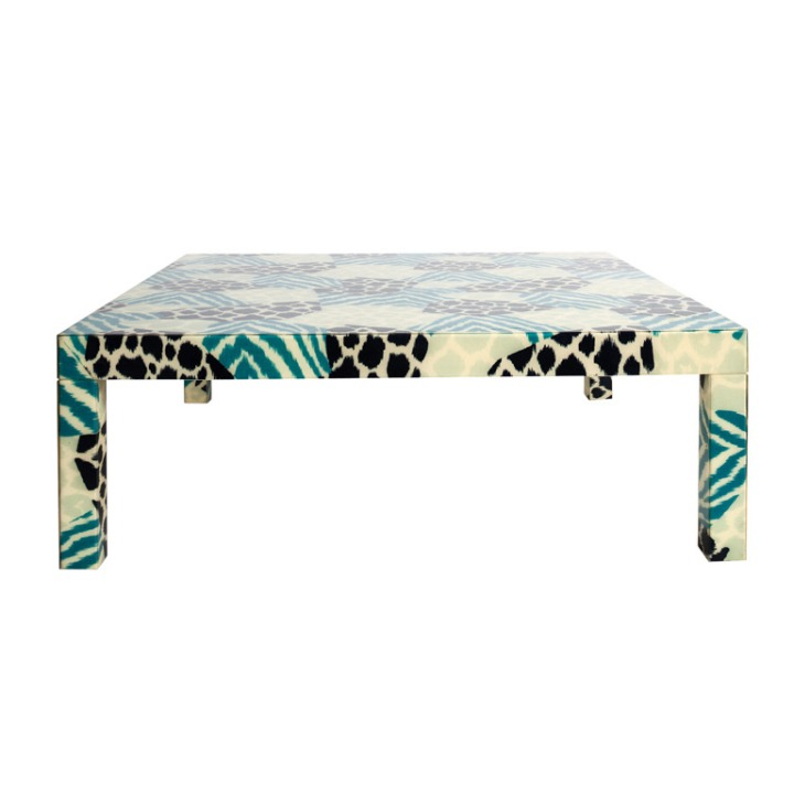 1908's acrylic coffee table memphis style