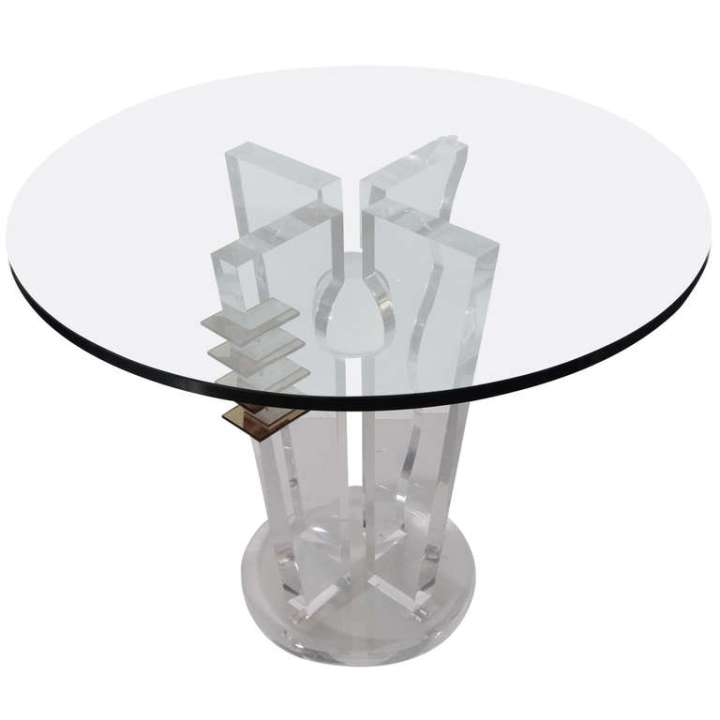 Lucite table 1980's