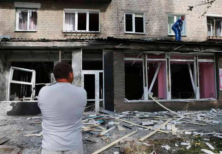 COMBATS À LOUHANSK ET DONETSK, BASTIONS SÉPARATISTES DE L'EST DE L'UKRAINE