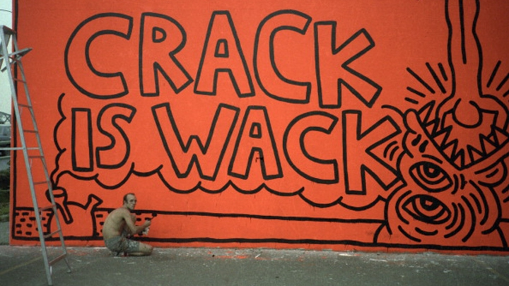 Keith Haring Paints 'Crack Is Wack'